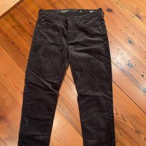 AG jeans (Anthropologie) velvet jeans 29 Ankle